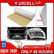 UXCELL 6mm 236mil fibra de alúmina gruesa + silenciador de algodón para coche, aislamiento fonoabsorbente de sonido para interiores automático, estera de amortiguación a prueba de sonido