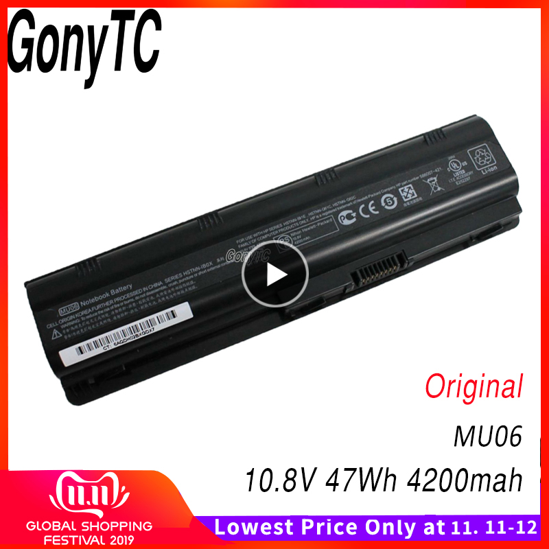 Original Laptop Battery For HP MU06 593562-001 593553-001 For Compaq Notebook 593554-001 593554-001 For Pavilion G6 G7 Dv5