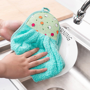 Cotton Hand Towel Small Hanging Lovely Square Scarf Hand Tissue Kitchen Handkerchief Towel Household Water Absorption Dropship