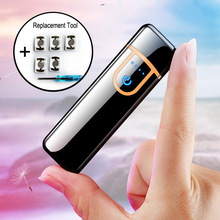 Hot sale USB Metal Charging Lighter windprood electronic lighters
