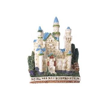 Lodówka magnes Frigo Home Decor akcesoria dekoracyjne pamiątki naklejka rzemieślnicza turystyka lodówka nowy łabędź kamień zamek niemcy