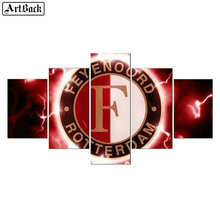 Five spell diamond painting Feyenoord 5d full square / round Amsterdam diamond mosaic kids Netherlands football decoration все цены