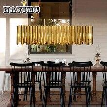 Современный светильник люстра освещение столовая длинный Овальный светильник украшение дома включает светодиодный Bulds