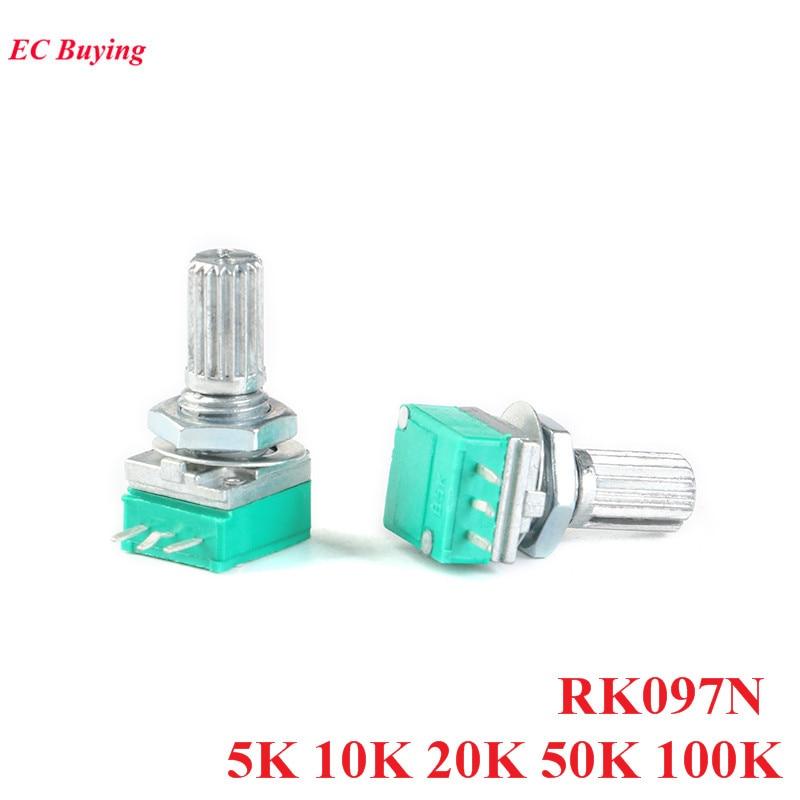 5K RK097N Mono 15mm Potentiometer Controller Volume Tone Mixer Control 3 Pin