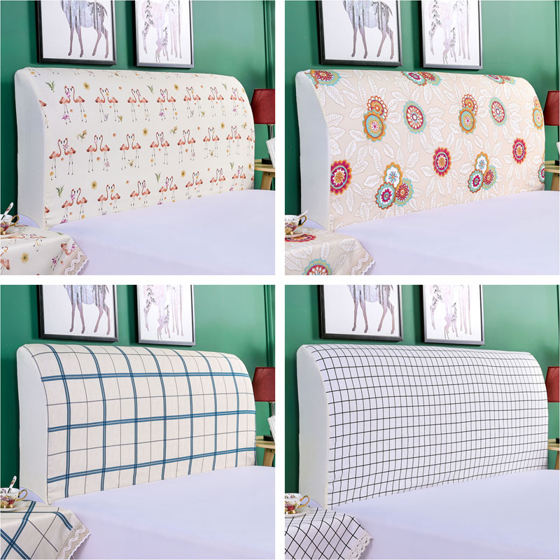 Modern Headboard Cover Dustproof Head Cover High Elastic Bed Dust Protective Cover Soft All-inclusive Head Cover 120x70cm