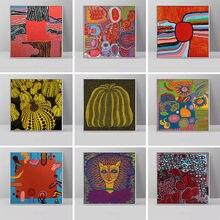 Yayoi kusama abstrata arte da abóbora pintura em tela cartazes e cópias da arte da parede fotos para sala de estar cuadros decoração casa