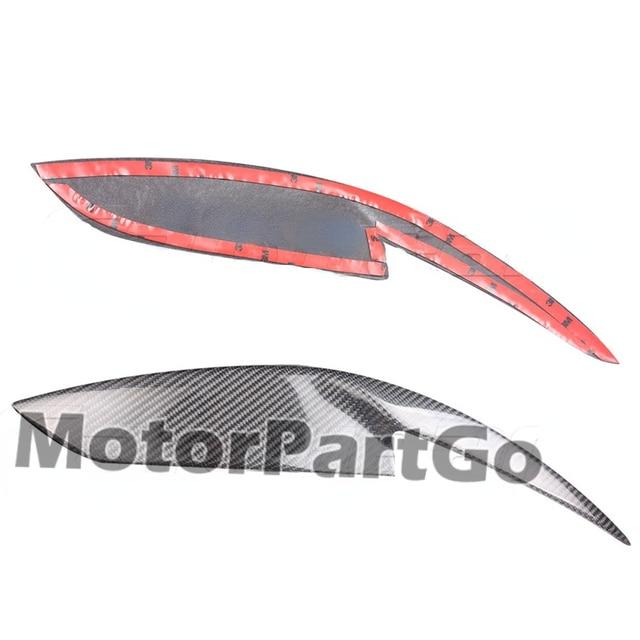 Real Crabon Fiber Head light Eyelid Eyebrow Cover Trim 1pair for Toyota Corolla 2006-2013 T226 6