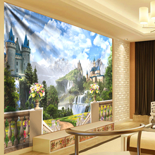 Psychedelic Tapestry 3D Castle Wall Hanging Hippie Tapestries Cloth Mandala Fabric Boho Decoration Home tapisserie murale