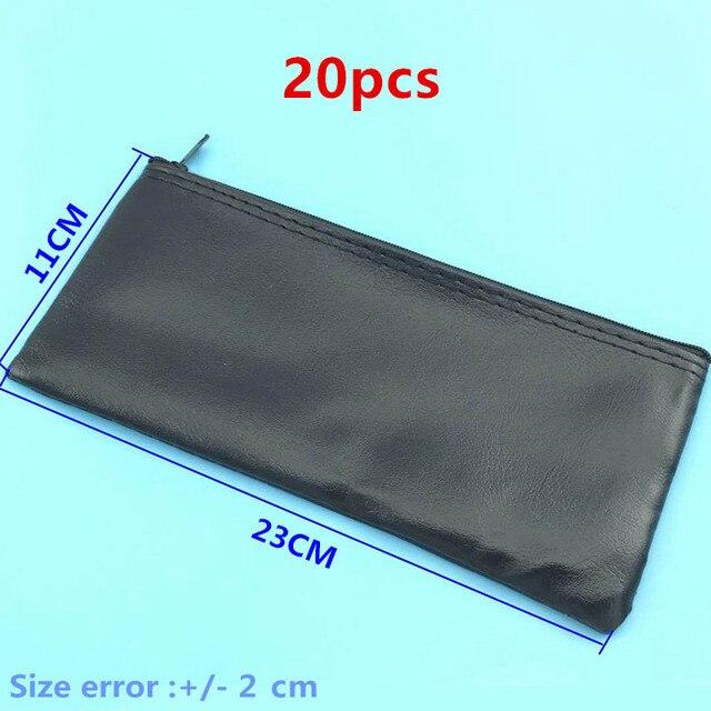 20 Cái/lốc Chuyên Nghiệp Có Dây Giá Đỡ Micro Bao Da Khóa Kéo Để Shure Micro Túi Phụ Kiện Hoặc Dây Cáp 23*11 cm