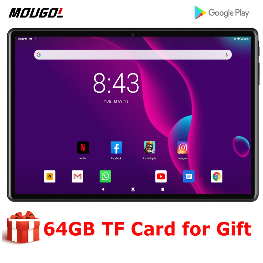 2020 New 10 inch tablet Andriod 9.0 OS Octa Core 4G LTE Phone Call IPS Screen 3GB RAM 32GB ROM Type-C 5G Wifi GPS Tablet 10.1
