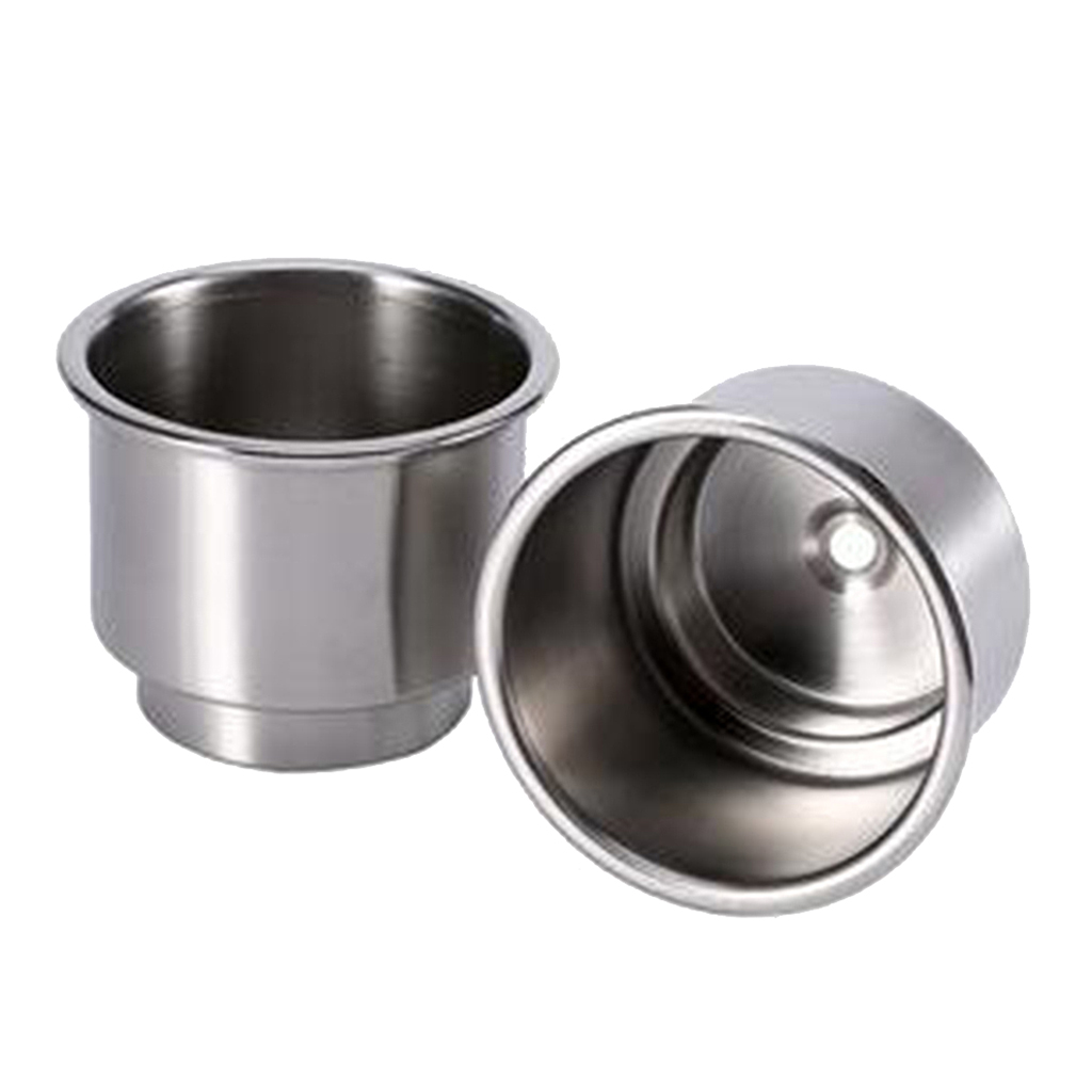 2pcs Cup Drink Can Holder with Drain for Car Marine Boat Yacht RV Camper