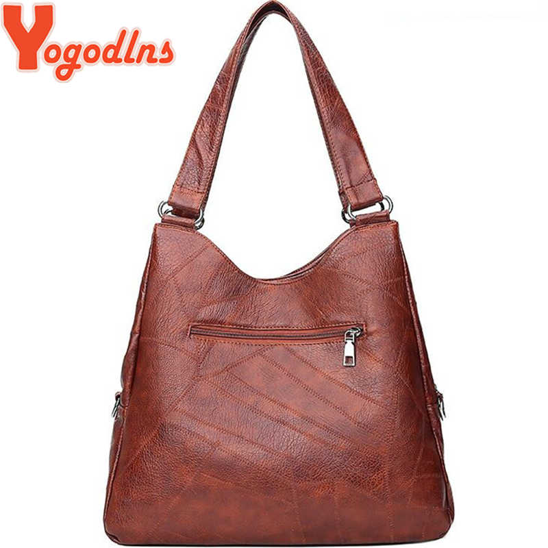 Yogodlns Retro Soft Women Crossbody Bags Luxury Vintage Brand Designer Shoulder Bags for Female Top-handle Casual Big Totes