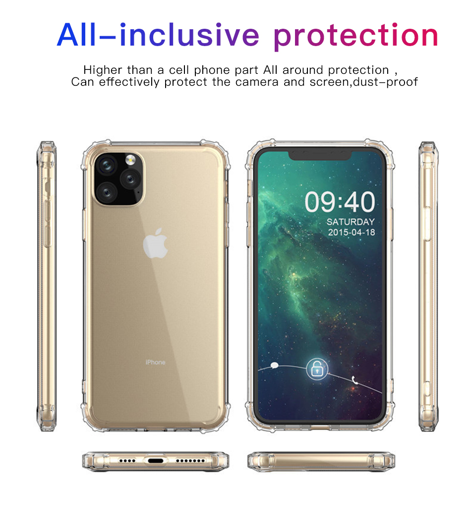!ACCEZZ For iPhone 11 Case 2019 For iphone 11 Pro Max New Soft Cases Transparent Protection Back Cover Mobile Phone Shell Coque (4)