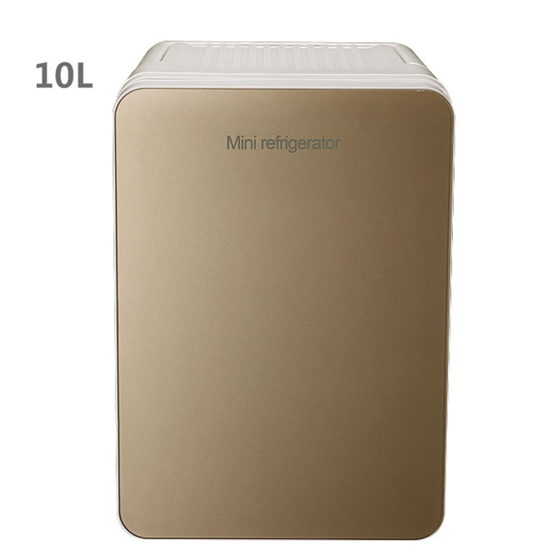 10L Capacity Mini Car Small Refrigerator Energy Saving Low Noise Three-tier Design Cold Storage Refrigeration Heating Two In One