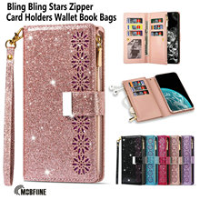 Folio Bling Leather Case For Samsung Galaxy A51 A71 A32 A52 A72 A12 A42 Luxury Zipper Flip Cover A21S A50 A30S A50S Wallet Bags
