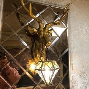 Image 2 - BLUBBLE Nordic Christmas Deer Antler Wall Lamp Creative Wall Lamps Deer Lamp Bedroom Buckhorn Kitchen Wall Lights for Home Decor