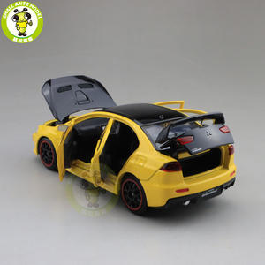 Image 4 - 1/32 JACKIEKIM מיצובישי לנסר EVO X 10 BBS RHD עם שחור גג Diecast דגם רכב צעצועים לילדים ילד ילדה מתנות