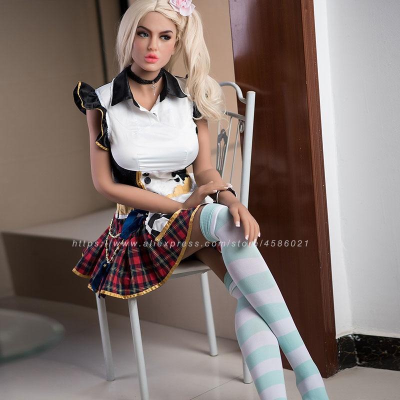 Image 3 - 170cm réaliste réaliste réaliste poupée sexuelle des hommes Europe Blonde avec yeux bleus amour poupéePoupées de sexe   -