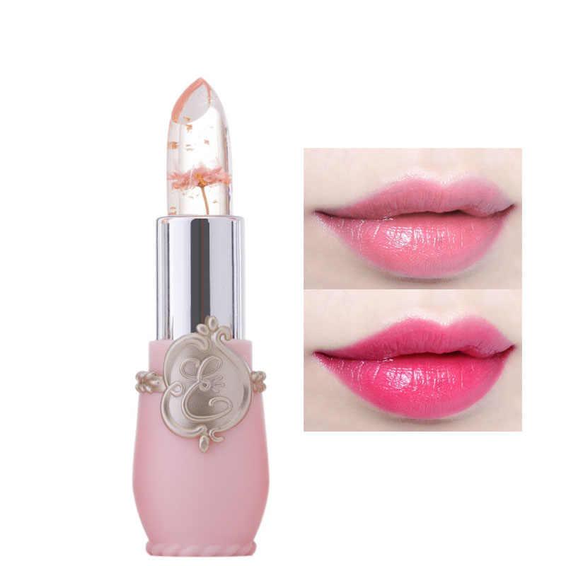 6 fiore Crema Idratante A lunga durata Rossetto Jelly Trucco Temperatura Cambiato il Colore Delle Labbra Blam Rosa Trasparente di Colore Rossetto TSLM1