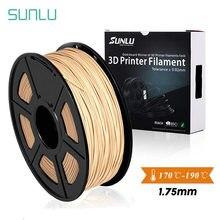 Sunllu 3d impressora de fibra de madeira e filamento ácido polilático 1.75mm filamento de madeira pla 3d 1kg com carretel