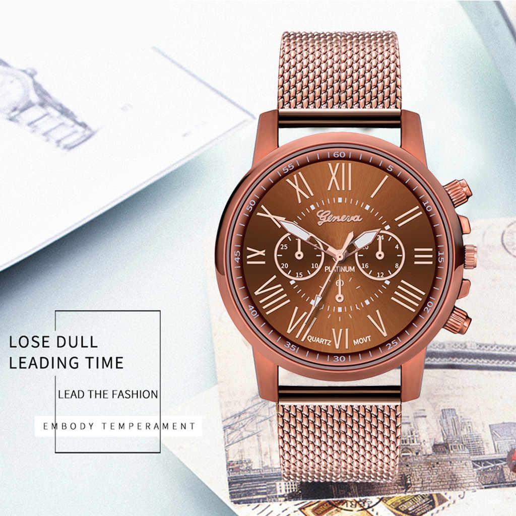 시계 여성 패션 럭셔리 숙녀 실리카 젤 밴드 쿼츠 시계 로즈 골드 여성 손목 시계 스테인레스 스틸 고품질 뉴