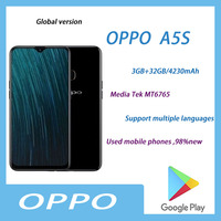 Used 98%new OPPO A5s Full Netcom 2 32GB  Dual SIM Smartphone Camera Beauty Android System Soft Light Triple Camera  Dual Standby 1