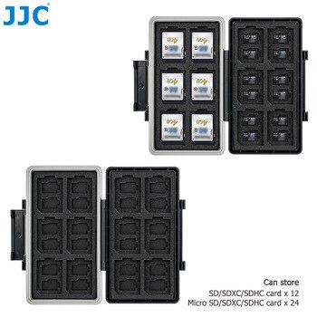 JJC 36 Slots SD Card Holder Case Organizer Wallet Memory Card Case Storage Box for 24 MSD Micro SD TF + 12 SD SDHC SDXC Cards