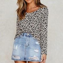 New Women Autumn Tshirt 2019 Leopard T Shirt Short Sleeve Fashion Casual Tops Tees Loose Streetwear T-shirt Camisas Mujer