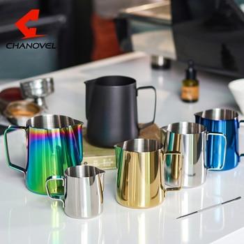 CHANOVEL 304 Stainless Steel Espresso Coffee Pitcher Craft Latte Milk Frothing Jug Milk Pitcher