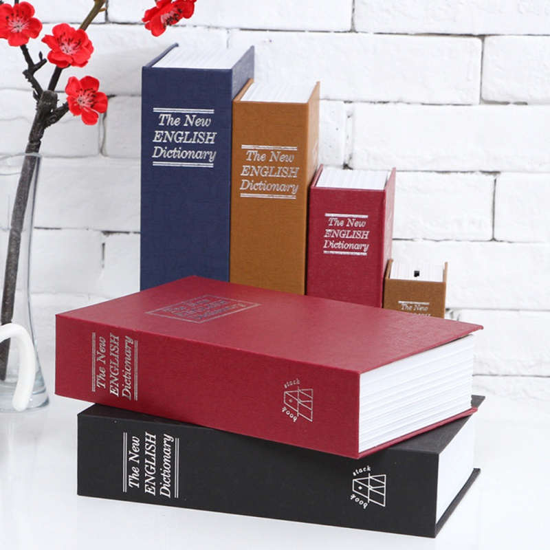 Book Style Simulation Safe Storage Portable Simulation Dictionary Book Safe Bookshelf Decoration Household Safe Deposit Box in Storage Boxes Bins from Home Garden