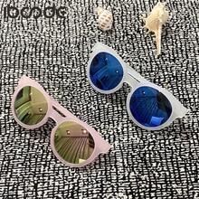 Kids Sunglasses Mirror Eyewear Vintage Fashion Goggle Girls Children UV400 Iboode Uv400-Protection
