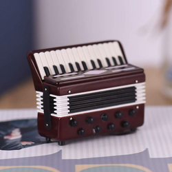 Mini Accordion Model Exquisite Desktop Music Instrument Decoration Ornaments Music Gift with Storage Case Dropshipping