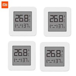Image 1 - [Versão mais recente] termômetro xiaomi mijia de bluetooth, termômetro elétrico sem fio inteligente e digital com higrômetro, funciona com o aplicativo mijia