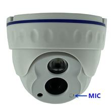 統合マイクオーディオソニーIMX307 + 3516EV200 3MP 2304*1296 ip天井ドームカメラ低照度irc onvif 42Mil赤外線onvif