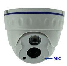 Integrare MIC Audio Sony IMX307 + 3516EV200 3MP 2304*1296 IP della Cupola del Soffitto Camera Bassa illuminazione IRC Onvif 42Mil A raggi infrarossi ONVIF
