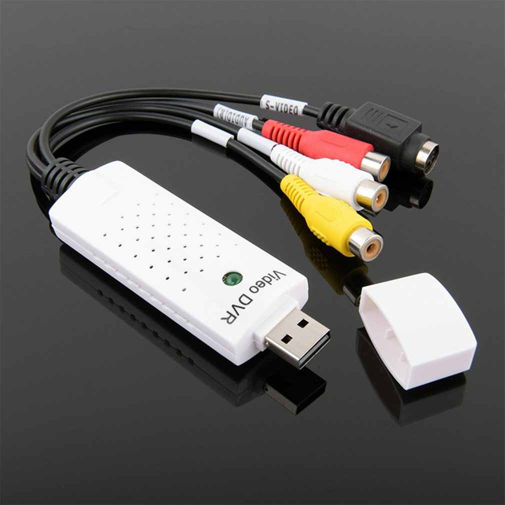 USB 2.0 Video Capture Grabber Kartu Adaptor Chipset UTV007 TV DVD VHS Menangkap Audio S-Video USB Adaptor Konverter dukungan Win7