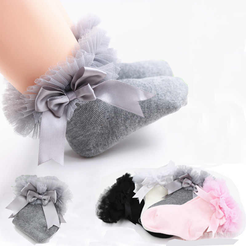 SeckinDogan Cotton Kids Girl Socks Solid Colour Cute Bow Baby Girls Socks Casual Princess Children Socks Kids Socks Clothes