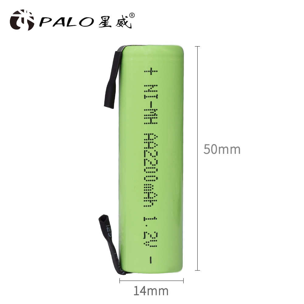 PALO 1,2 V AA Аккумуляторная батарея 2200mah 2A Ni-MH nimh сотовый пакет с вкладками шпильки для Philips Электробритва Braun зубные щетки