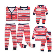 Autumn Family Matching Clothes Outfits Look Mommy and Me Christmas Tree Pajamas Adult Women Kids Cute Baby Red Sleepwear Plus(China)
