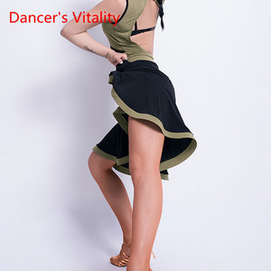 Image 4 - Latin Dance New Female Adult Sexy Skirt Latin profession Training Clothes Woman Competition Performance Clothes