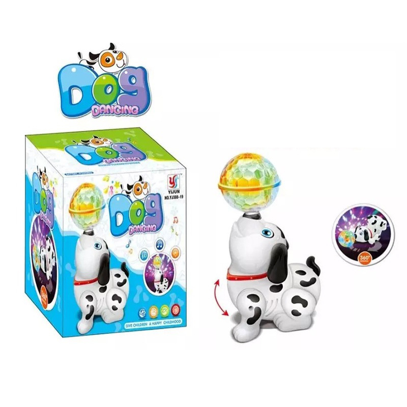 Foreign Trade Children Early Education Dancing Puppy Model Electric Pet Robot Dog Educational Toy Animals Stall Hot Selling
