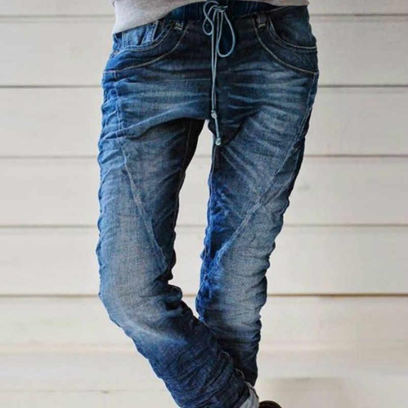 Pantalones Vaqueros Americanos Y Europeos Para Mujer Pantalon Elastico Recto Con Cintura Talla Grande Para Otono E Invierno 2020 Pantalones Vaqueros Aliexpress