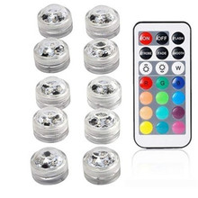 IP68 Waterproof Battery Operated Multi Color Submersible LED Underwater Light for Fish Tank Pond Swimming Pool Wedding Party 10leds rgb led underwater light pond submersible ip67 waterproof swimming pool light battery operated for wedding party