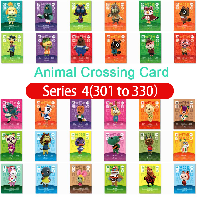Animal Crossing Amiibo Card Amiibo Card Animal Crossing Series 4 Nfc Card 301 To 330 Work For Ns Games Fast Shipping
