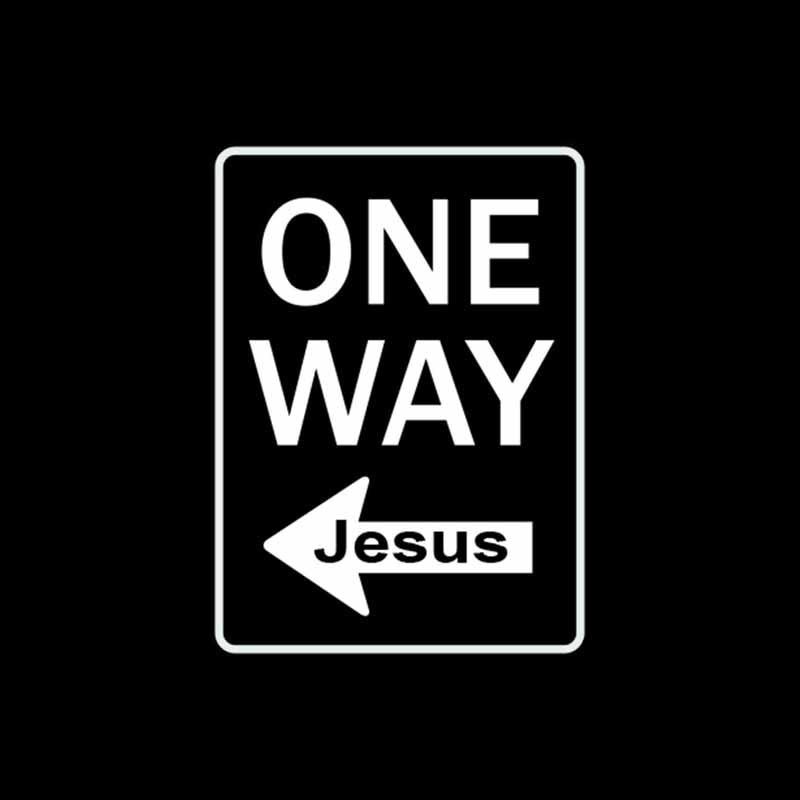 11cm * 15cm cristianismo seta vinil adesivo do carro decalques uma maneira jesus preto/prata C3-1489
