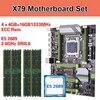 Kllisre X79 motherboard set with Xeon E5 2689 4x4GB=16GB 1333MHz DDR3 ECC REG memory ATX USB3.0 SATA3 PCI E NVME M.2 SSD