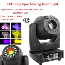 200W LED Spot Moving Head Light With LED Ring Stage Effect Lighting DMX512 Perfect Lights For DJ Party KTV Bar Disco Lamp 4x lot 15w led mini moving head spot light moving stage moving head goos stage effect light for bar ktv hotel