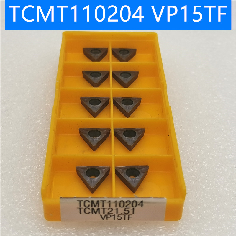 20PCS TCMT110204 VP15TF Carbide Insert Turning Tool Turning Milling Cutter CNC Cutting Tool Slot Cutting