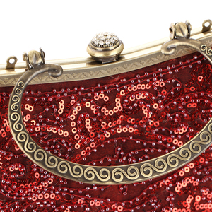 Image 5 - Red Glitter Evening Bags Women Hobos Luxury Party Small Handbags Female Soft Surface Clutches Wedding Banquet Purse Pouch