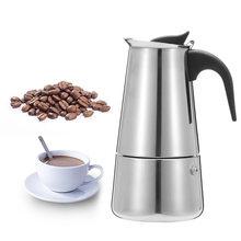 200/450 мл Портативный нержавеющая сталь гейзерная кофеварка